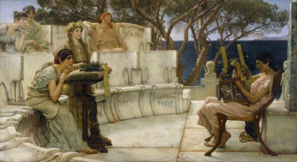 Sappho and Alcaeus, Alta-Tadema