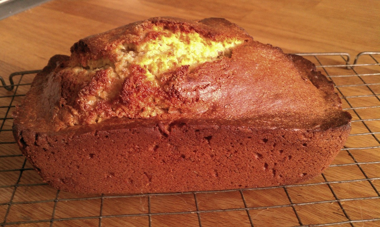 The seedcake loaf, unsliced